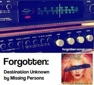 Forgotten: Destination Unknown by Missing Persons
